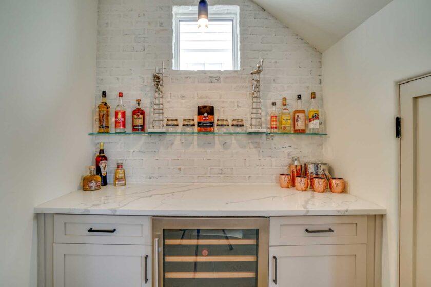 pantry area with wine fridge