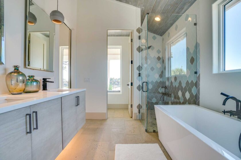 modern coastal bathroom
