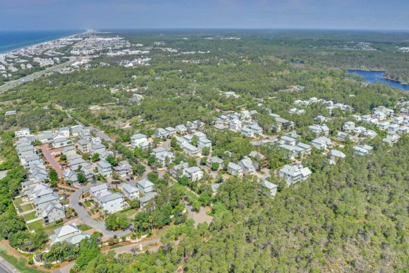 aerial view of land at Grande Pointe