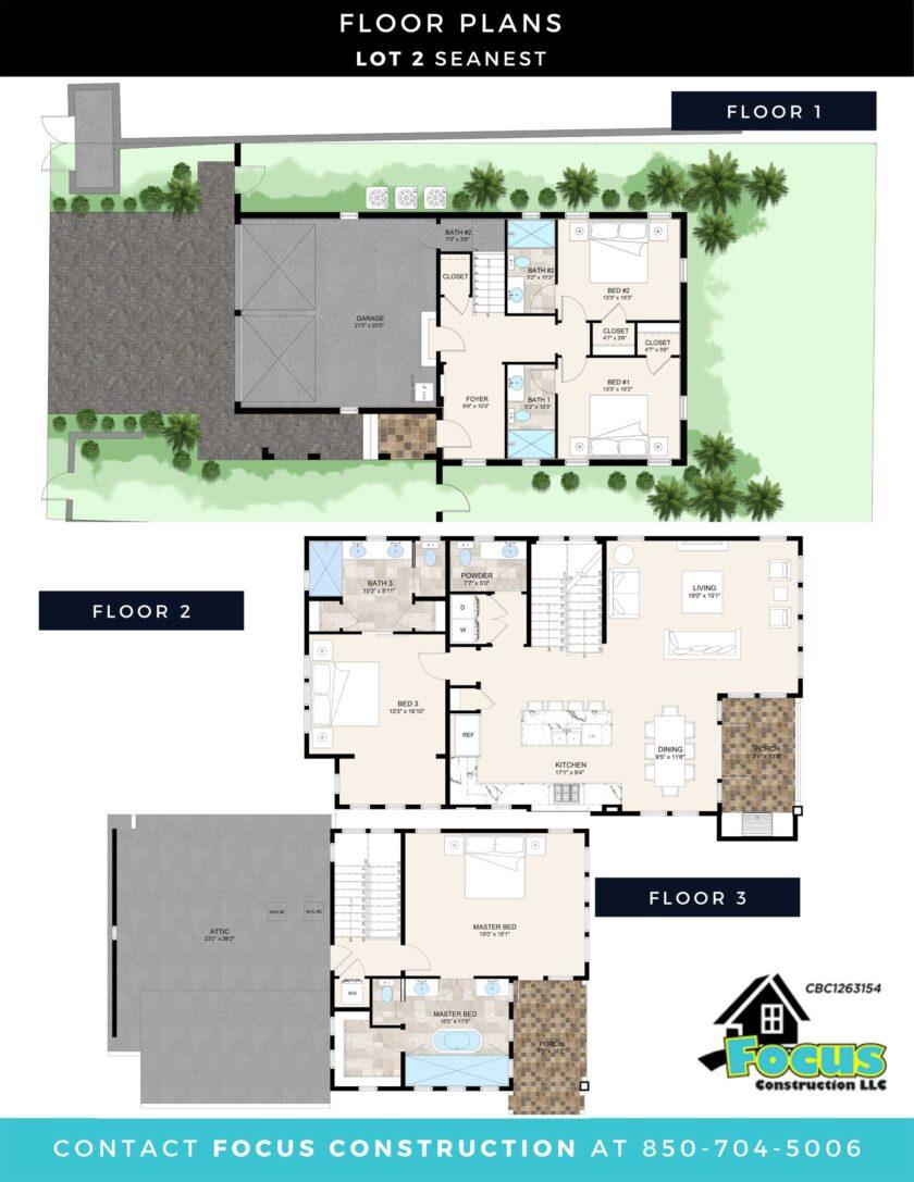 Lot 2 Sea Nest floorplans