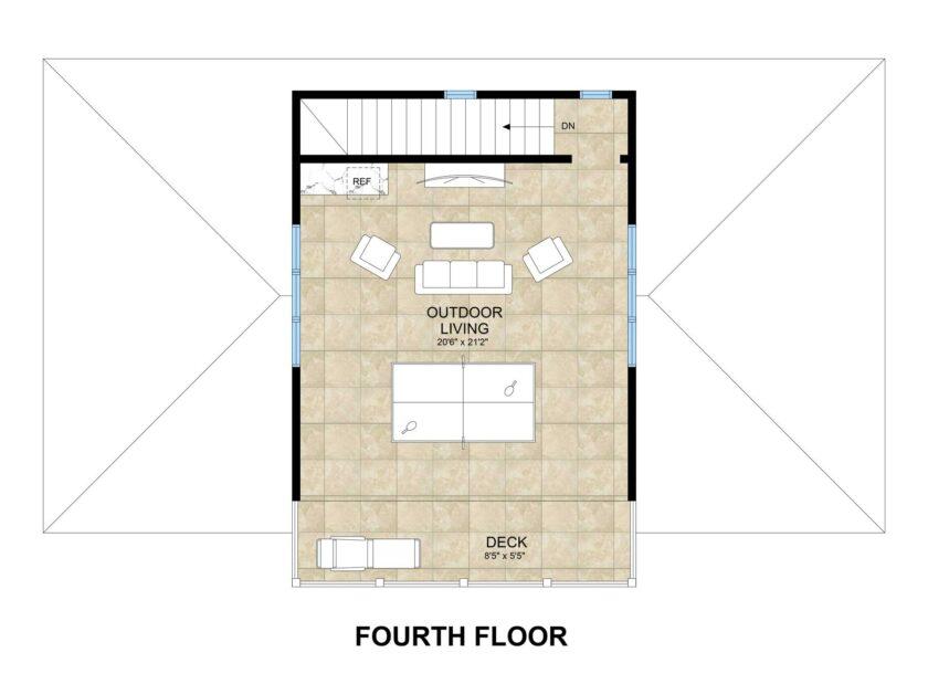 Fourth floor illustration