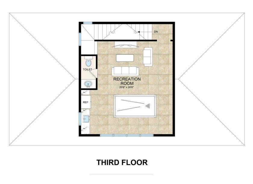 Floorplan third floor
