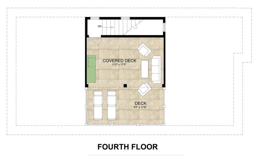 fourth floor floorplan lot 2 Inlet Heights
