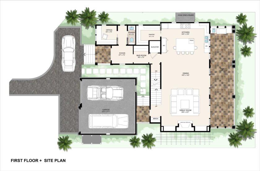 First floor plus siteplan