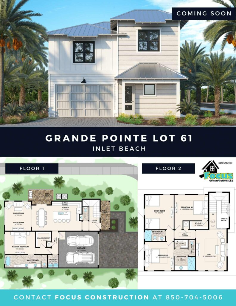 Grande Pointe Lot 60 flyer with photo and floorplan